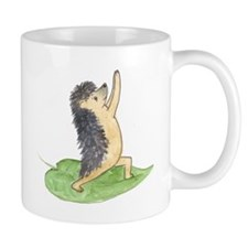 Yoga Hedgehog Warrior Leaf Mug