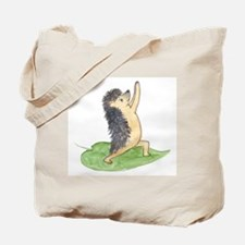 Yoga Hedgehog Warrior Leaf Tote Bag