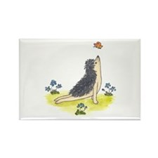 Yoga Hedgehog Upward Facing Dog Rectangle Magnet