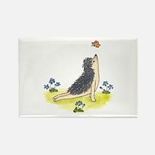 Yoga Hedgehog Upward Facing Dog Rectangle Magnet