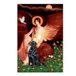 Angel / Flat Coated Retriever Postcards (Package o