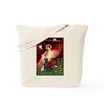 Angel / Flat Coated Retriever Tote Bag