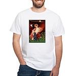 Angel / Flat Coated Retriever White T-Shirt