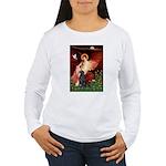 Angel / Flat Coated Retriever Women's Long Sleeve