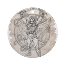 Archangel Camael Ornament (Round)