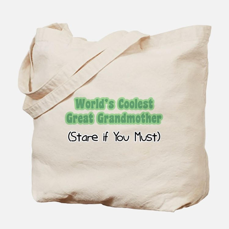 World's Coolest Great Grandmother Tote Bag