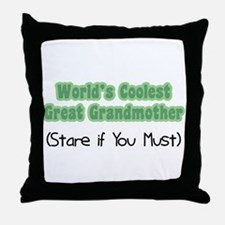 World's Coolest Great Grandmother Throw Pillow