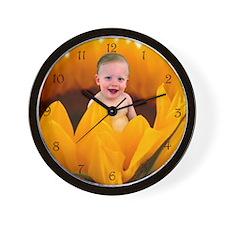 Sunflower Baby Wall Clock