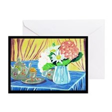 Teapot Flowers Greeting Card