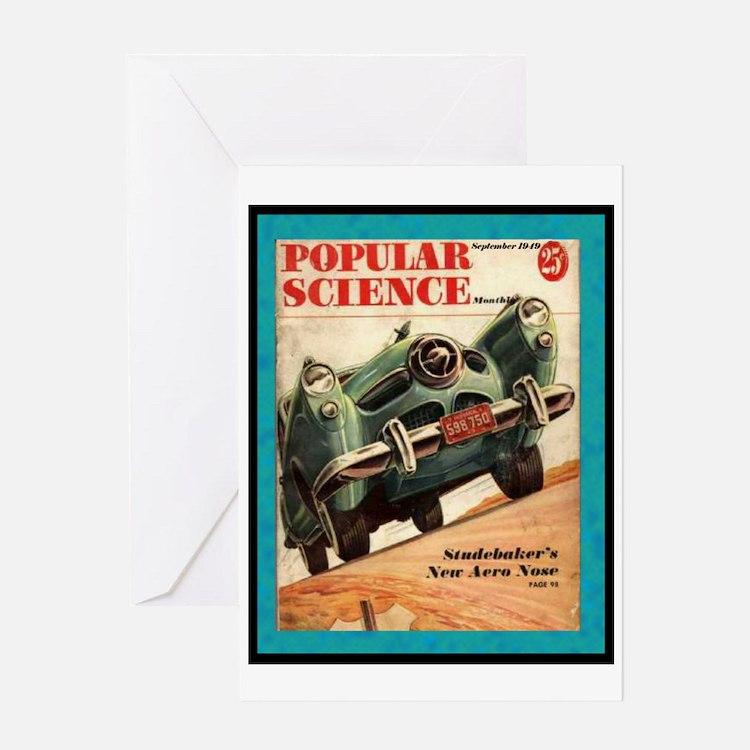 """1950 Studebaker Test"" Greeting Card"