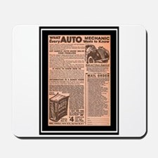 """""""Auto Guide-Circa 1960"""" Mousepad"""