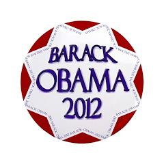 "Obama Star for 2012 3.5"" Big Button"