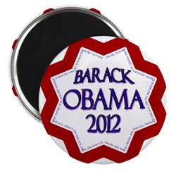 Patriotic Barack Obama 2012 Magnet
