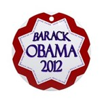Barack Obama 2012 Christmas Ornament