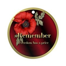 Remember Poppy Ornament (Round)