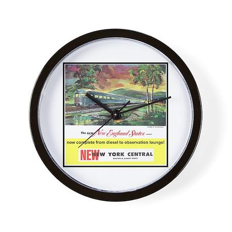 """1949 New England States Ad"" Wall Clock"