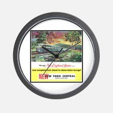 """1949 New England States Ad"" Wall Clock"
