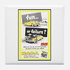 """""""1949 NAPA Ad"""" Tile Coaster"""