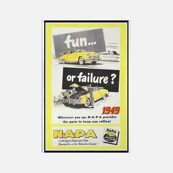 """1949 NAPA Ad"" Rectangle Magnet"