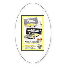 """""""1949 NAPA Ad"""" Oval Bumper Stickers"""