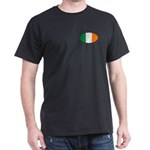 Oval Irish flag Black T-Shirt