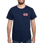 Oval British flag dark T-Shirt