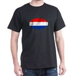 Oval Dutch flag Black T-Shirt