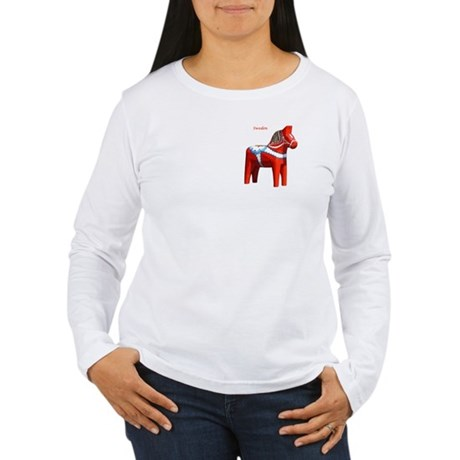 Dala Horse Women's Long Sleeve T-Shirt