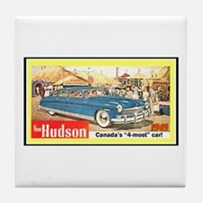 """1949 Hudson Ad"" Tile Coaster"