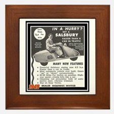 """Salsbury Scooter Ad"" Framed Tile"