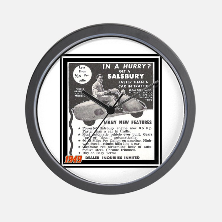 """Salsbury Scooter Ad"" Wall Clock"