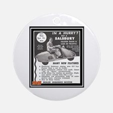 """Salsbury Scooter Ad"" Ornament (Round)"