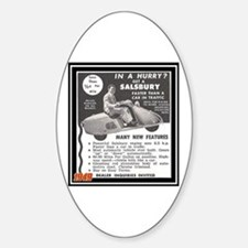 """""""Salsbury Scooter Ad"""" Oval Decal"""