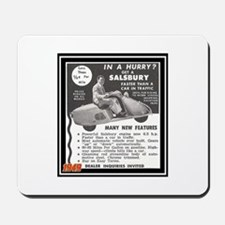 """""""Salsbury Scooter Ad"""" Mousepad"""