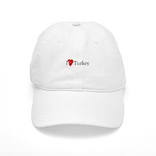 I Love Turkey Baseball Cap