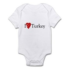I Love Turkey Infant Bodysuit