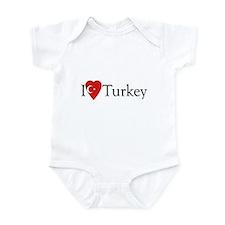 I Love Turkey Infant Bodysuit