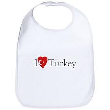 I Love Turkey Bib