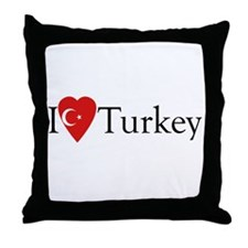 I Love Turkey Throw Pillow