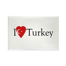 I Love Turkey Rectangle Magnet