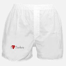 I Love Turkey Boxer Shorts