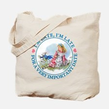 I'M LATE, I'M LATE Tote Bag