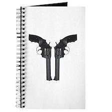 Black Back To Back Revolvers Journal