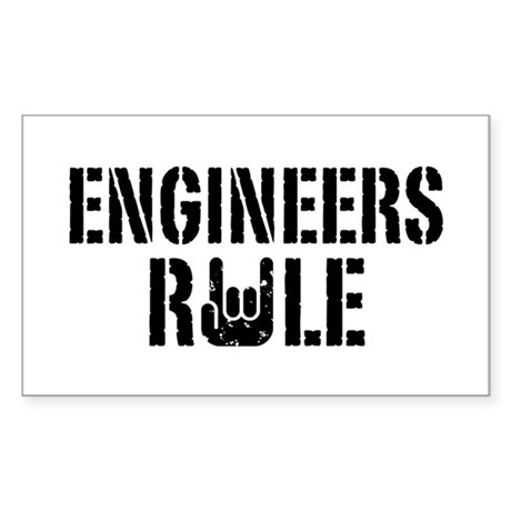 Engineers Rule Rectangle Sticker