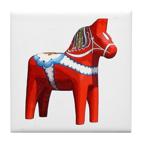 Dala Horse Tile Coaster