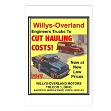 """""""1949 Willys Ad"""" Postcards (Package of 8)"""