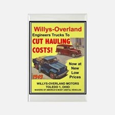 """""""1949 Willys Ad"""" Rectangle Magnet"""