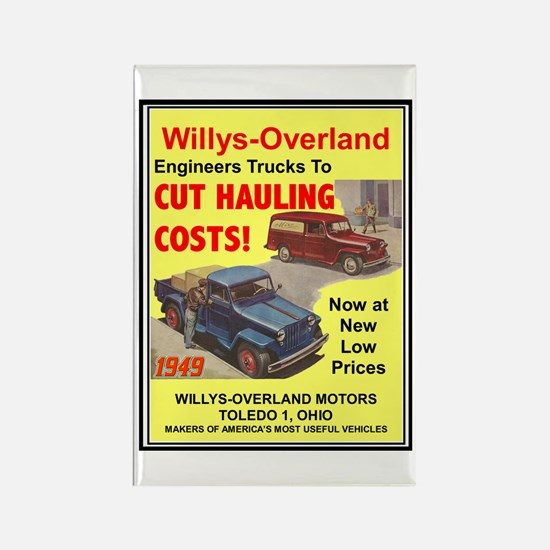 """1949 Willys Ad"" Rectangle Magnet"