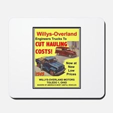 """""""1949 Willys Ad"""" Mousepad"""