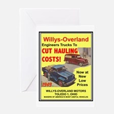 """""""1949 Willys Ad"""" Greeting Card"""